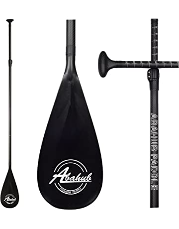 810ca689a ABAHUB 3-Piece Adjustable Carbon Fiber SUP Paddle Carbon Shaft + Carrying  Bag for Stand