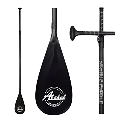 ABAHUB Carbon Fiber SUP Paddle 3-Piece Adjustable Carbon Shaft Black  Plastic Blade + Bag dbf68cbf740f