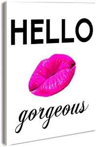 Stupell Home Décor Lulusimonstudio Hello Gorgeous Rectangle Wall Plaque, 10 x 0.5 x 15, Proudly Made in USA