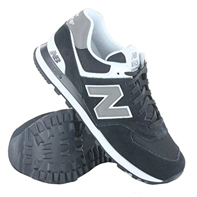 New Balance KL 574 Classics Traditionnels Black White Mens Trainers Size  8.5 UK