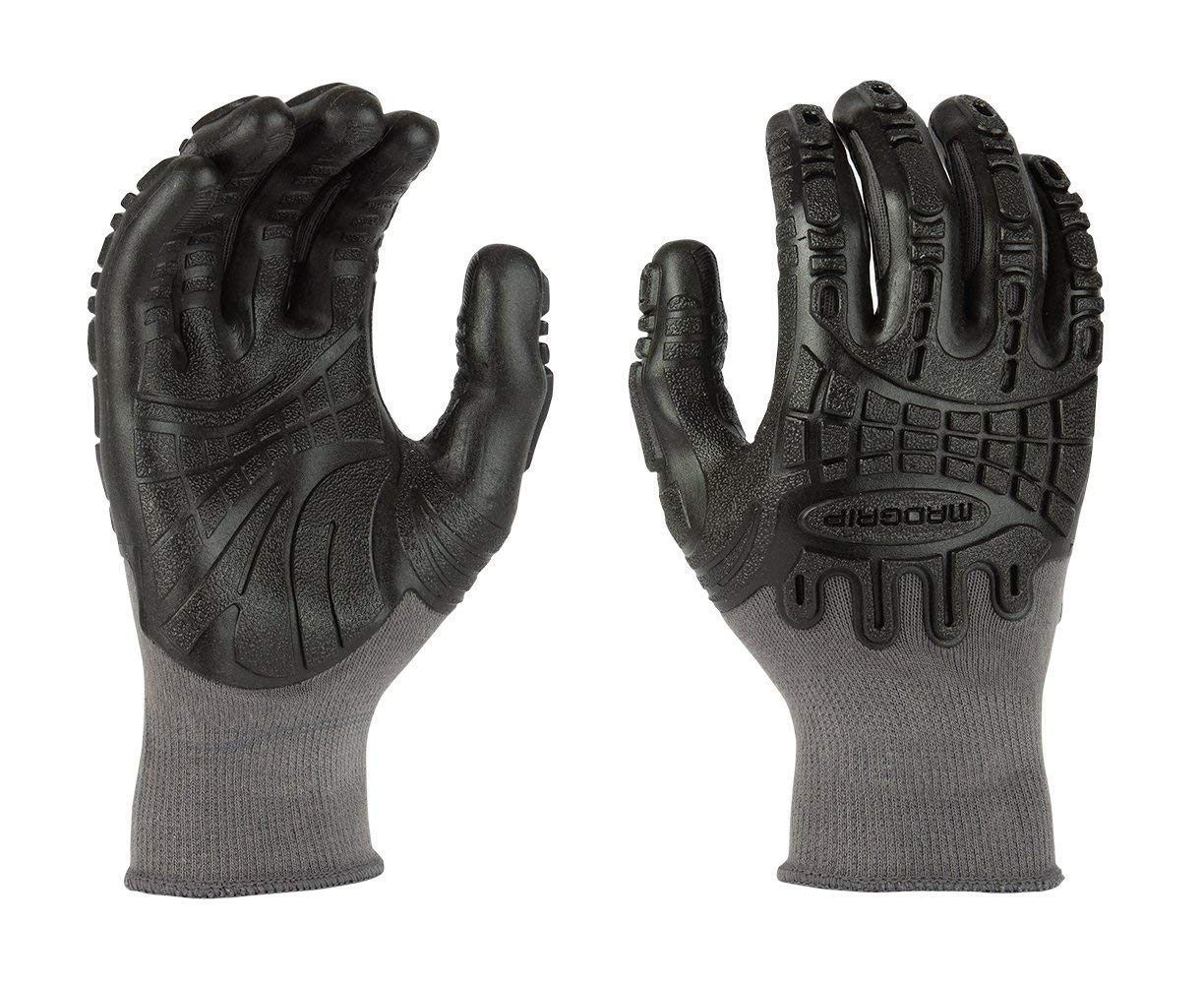 Madgrip F50 Thunderdome TPR Impact Gloves Grblk Large 3 Pair