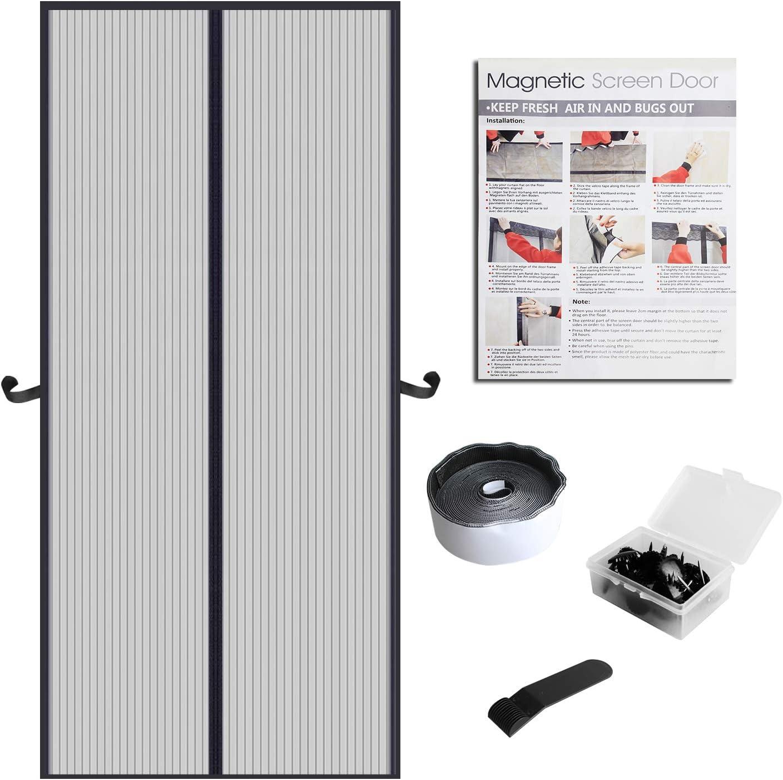 Eageroo DIY selbst abschnittbar Fliegennetz Ohne Bohren Insektenschutz Klettband Fliegengitter Fenster mit Klettband 130cm X 150cm Fliegengitterfenster