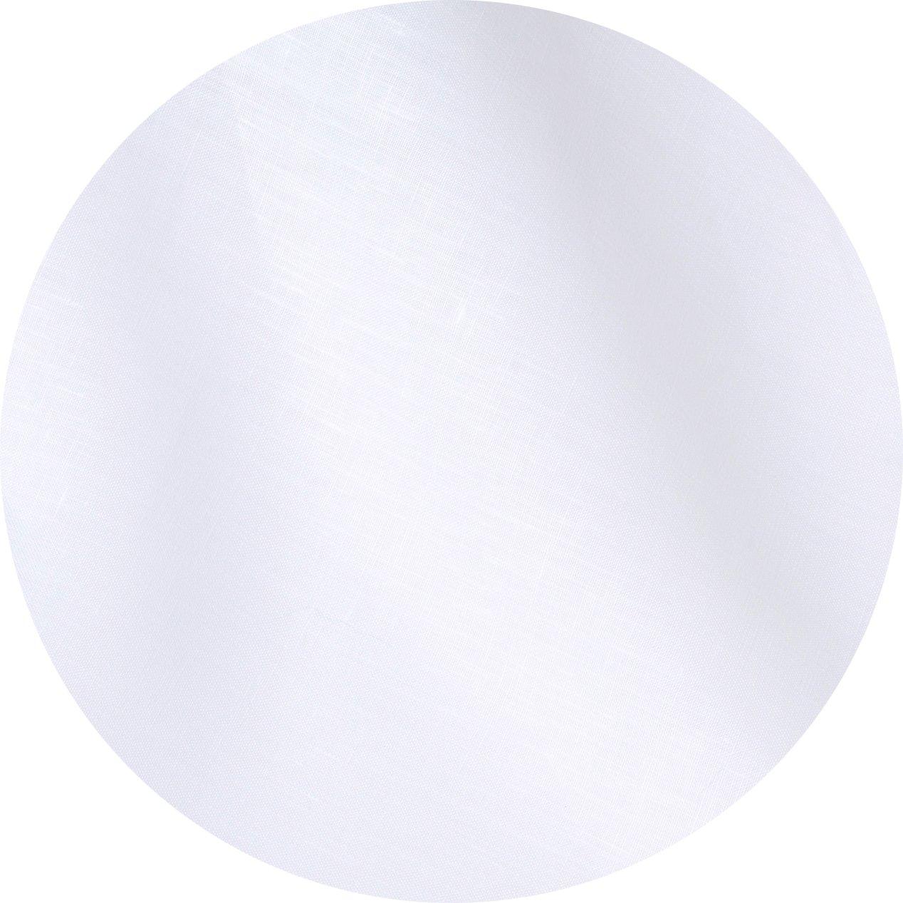 White Italian Pure Linen Tablecloth, 120'' Round