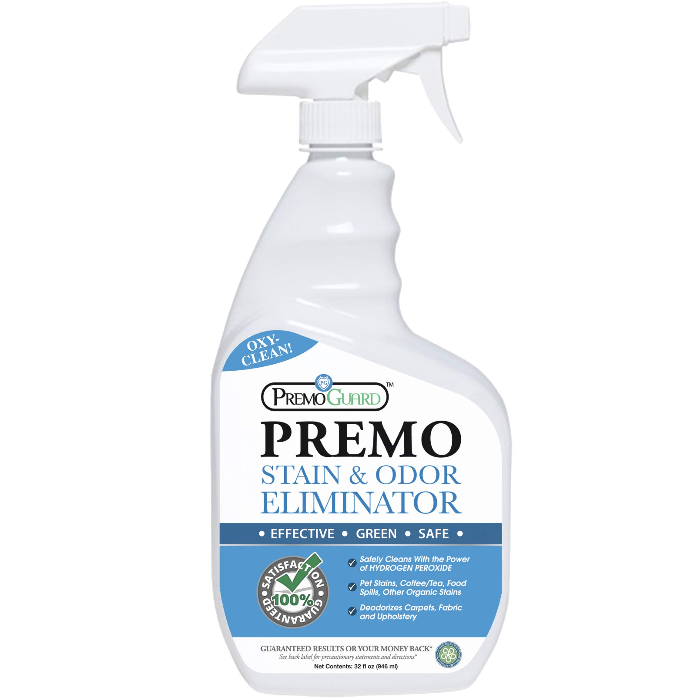 STAIN & ODOR REMOVER - Professional Enzyme Spray - Removes Soiling From Dogs/Cats/Pets - Safely Cleans Carpet/Upholstery/Fabric - Effective On Wine/Blood/Vomit/Urine - Natural Eco Friendly - 32 oz