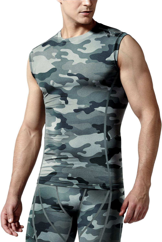 Tesla Hombre fresco y seco camiseta de compresión sin mangas R15: Amazon.es: Deportes y aire libre