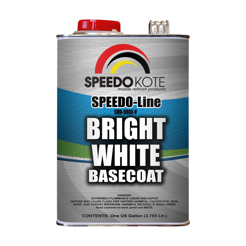 Speedokote Bright White Base Coat 3.5 voc 50 State Legal, One Gallon SMR-9800-V Basecoat by Speedokote