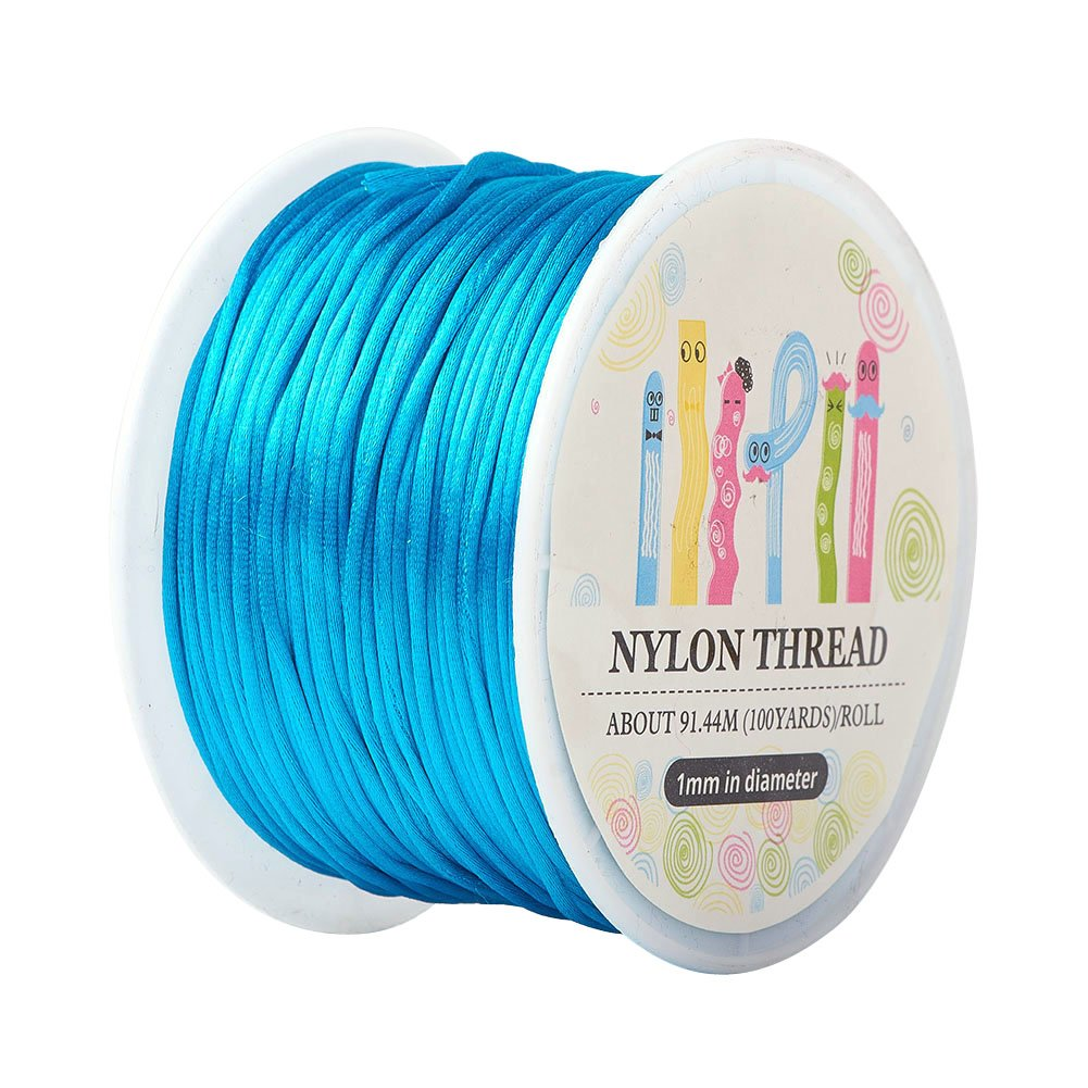 10 x 32.8yards PH PandaHall 10 Colors 1mm Rattail Satin Nylon Trim Cord for Necklace Bracelet Beading Chinese Knot