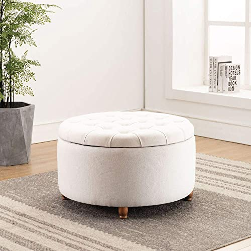 Modern Round Ottoman Footrest Stool