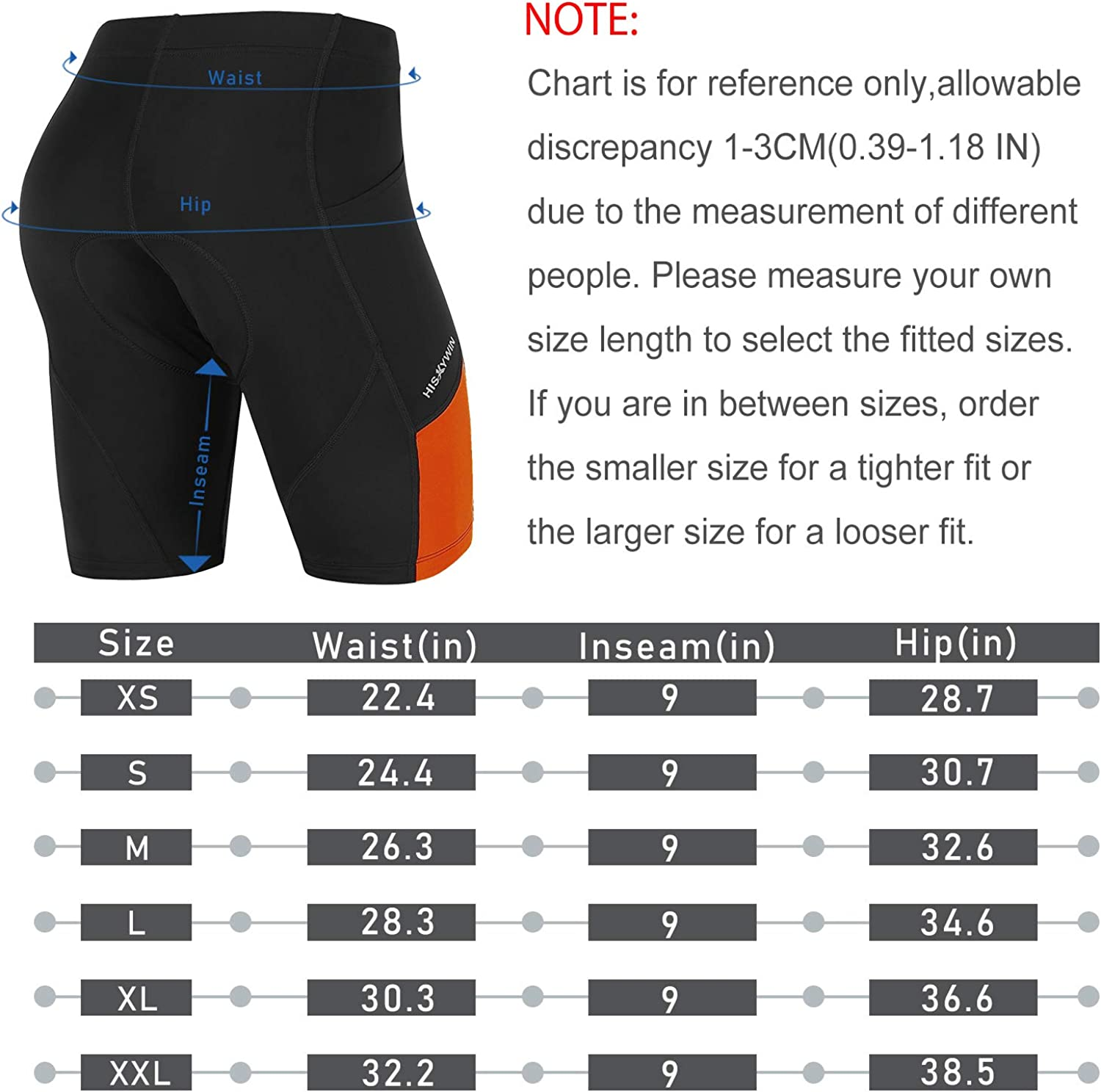 HISKYWIN Womens UPF50 3D Padded Cycling Underwear Shorts Bike Undershorts Bicycle MTB Underpants Breathable Briefs MTB
