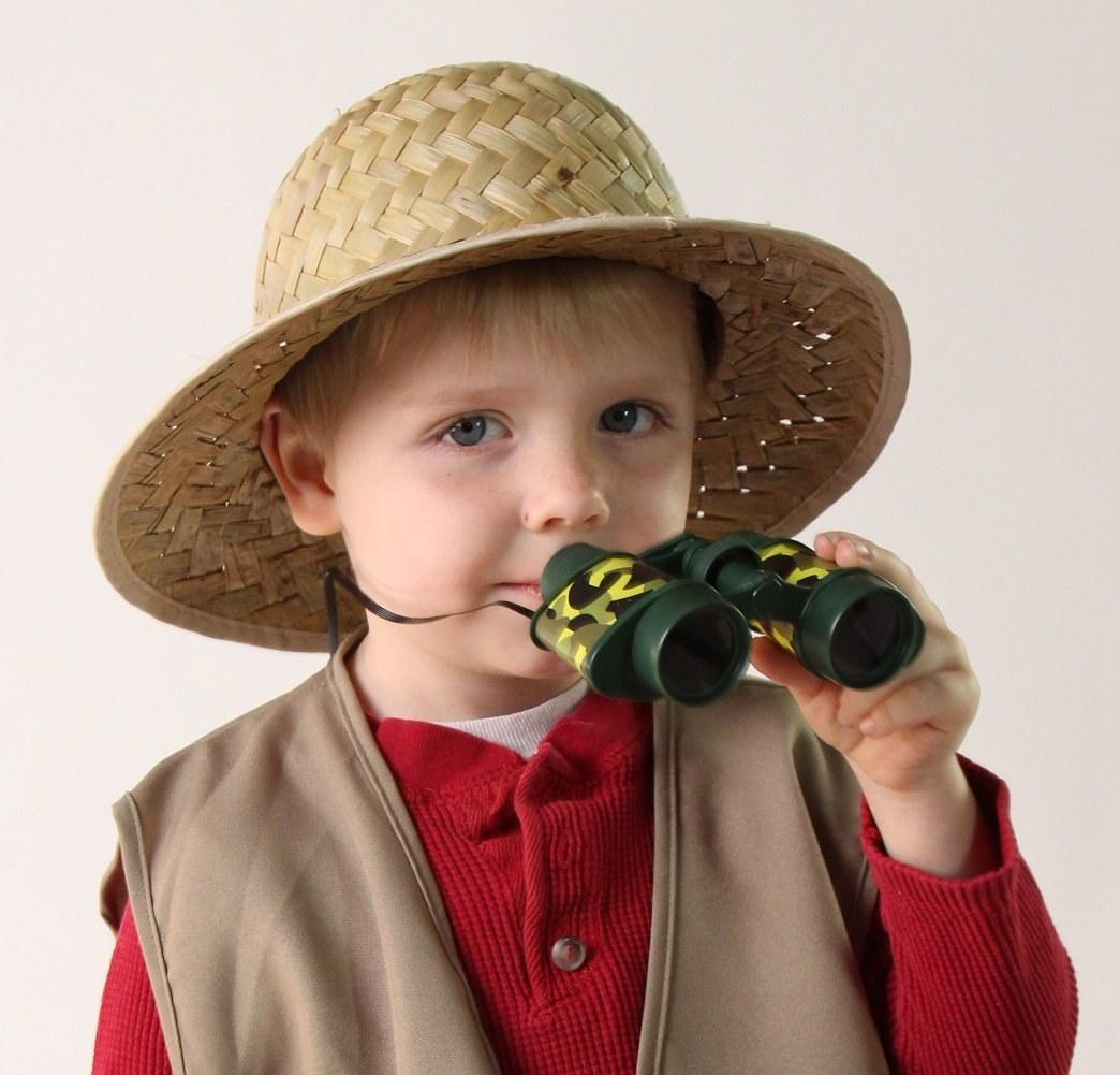 7bce668ec8bb7 Amazon.com  Kids Outdoor Safari Adventure Vest and Straw Pith Hat  Toys    Games