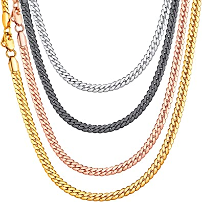 collier maille homme or