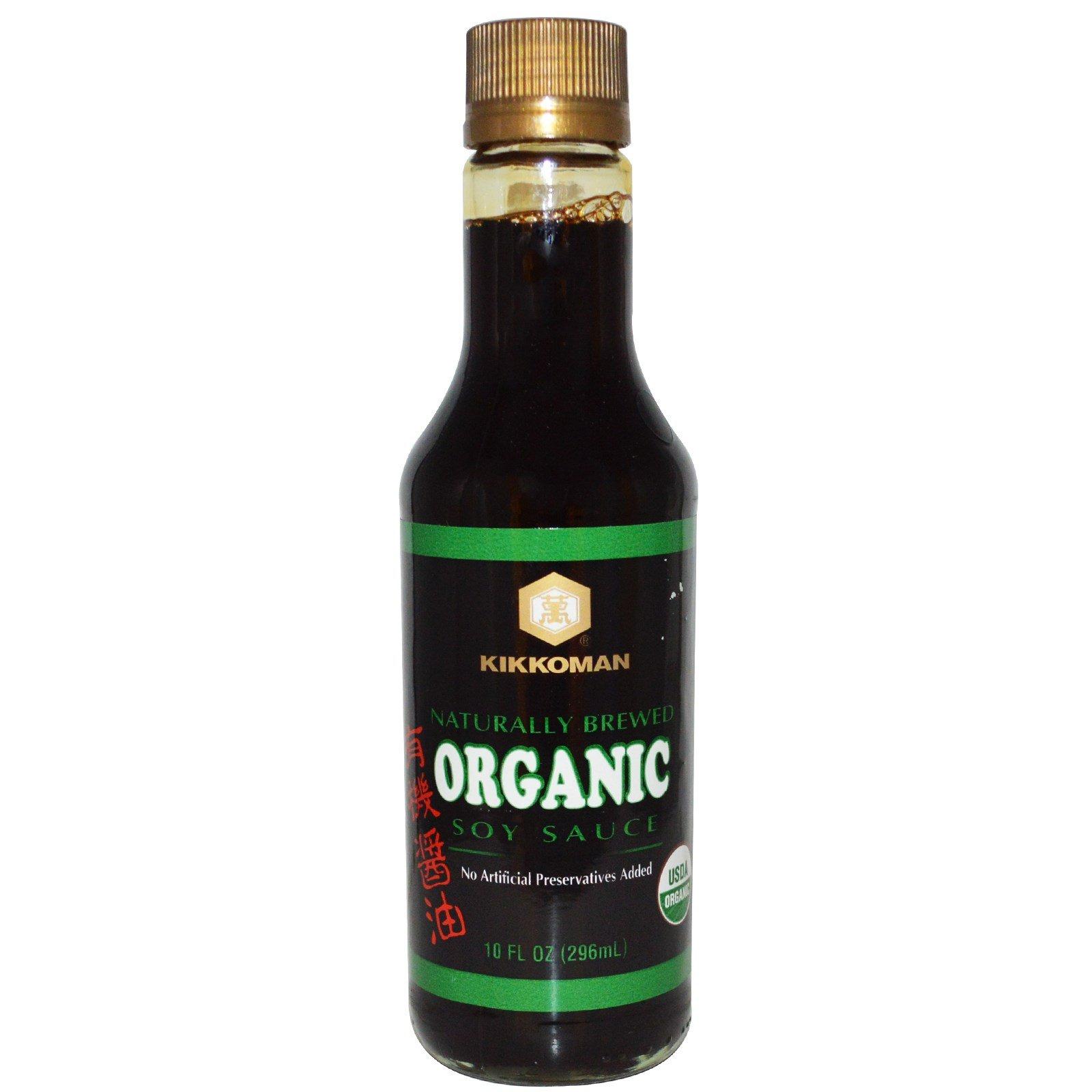 Kikkoman, Organic Soy Sauce, 10 fl oz (296 ml) - 2pcs