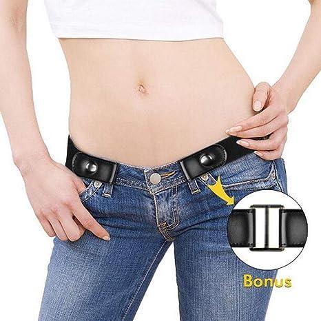 Buckle-libero Cintura per Jean Pantaloni senza fibbia Stretch elastico in vita cintura per Abiti