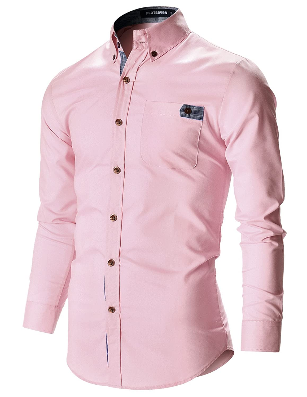 FLATSEVEN para hombre Designer Slim Fit Vestido Camisas B00MD199NS ...