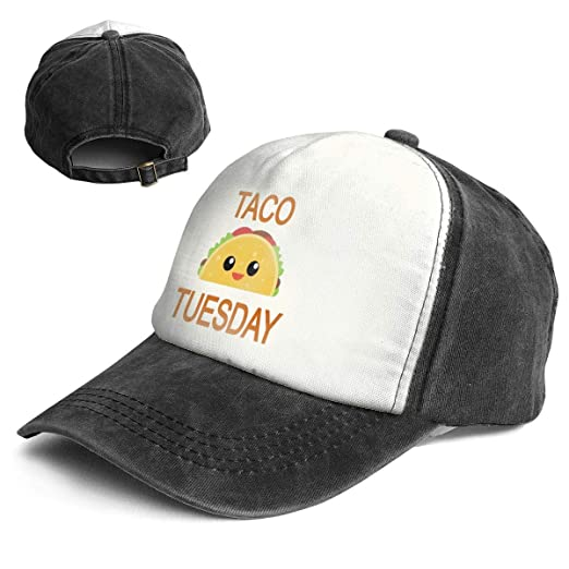 Amazon.com  XZFQW Taco Tuesday Trend Printing Cowboy Hat Fashion Baseball  Cap for Men and Women Black and White  Clothing 02fb772daa4
