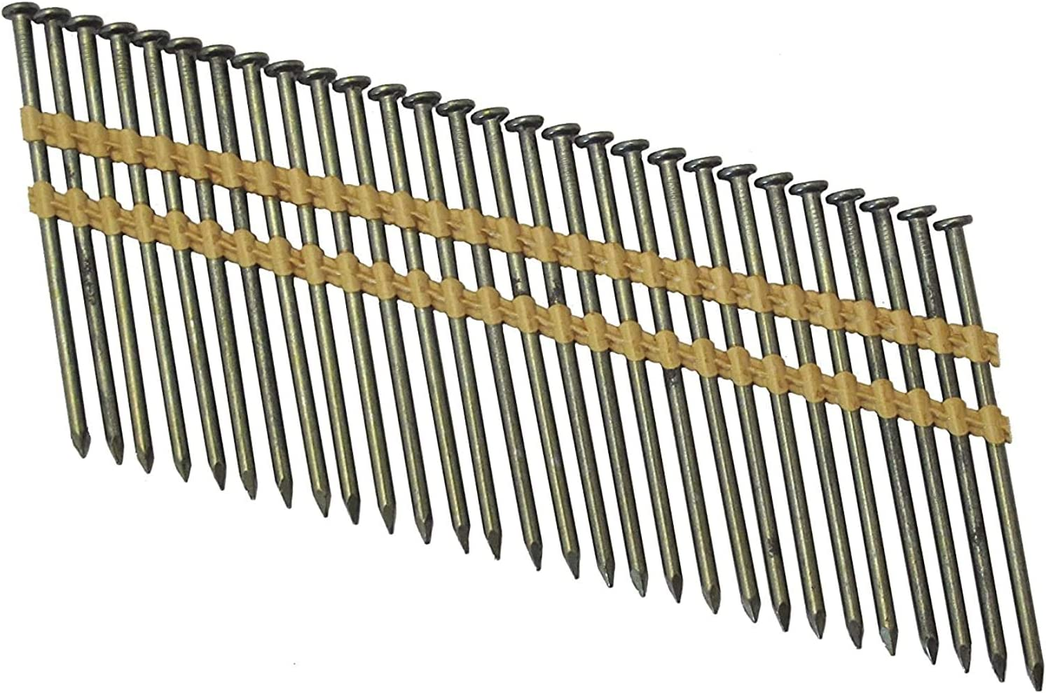 Steel Grip Rite Prime Guard GRC12PZD 15-deg Bright Wire Coil Nails Smooth Flat 2,500 per Pack Smooth 3-inch by .131