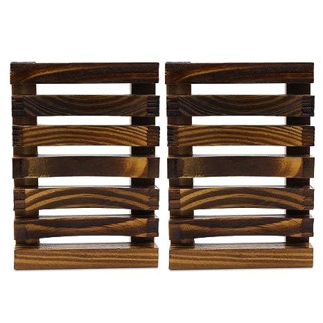 Fippy Jabonera de Madera, portavasos, Caja de jabón de bambú ...