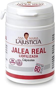Comprar Ana Maria Lajusticia - Jalea real liofilizada – 60 cápsulas. Reduce el cansancio y la fatiga, refuerza el sistema inmunitario. Envase para 60 días de tratamiento.