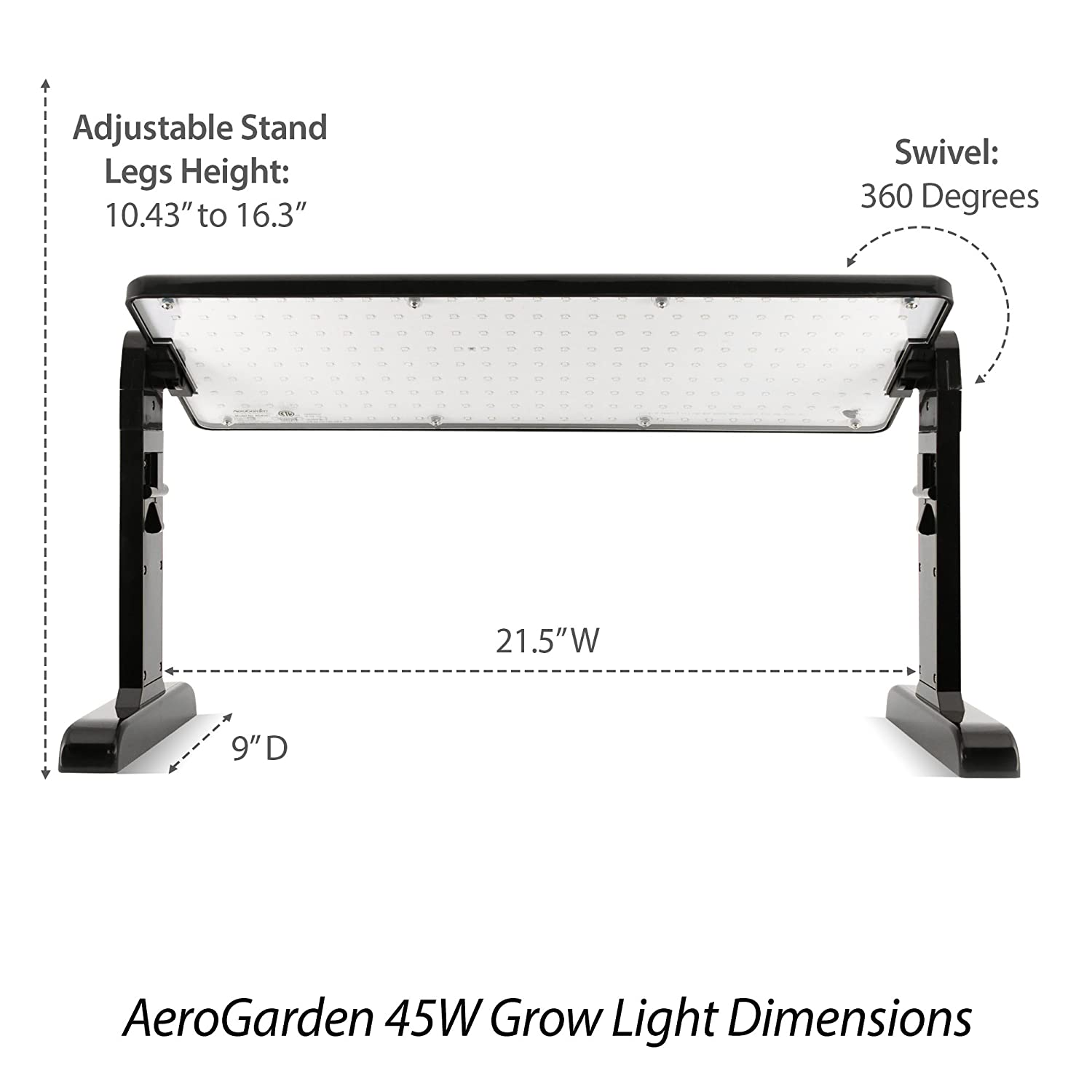 Grow Light Wiring Diagram Library Hid Electronic Ballast Circuit Basiccircuit Amazoncom Aerogarden Led Panel 45w Garden Outdoor