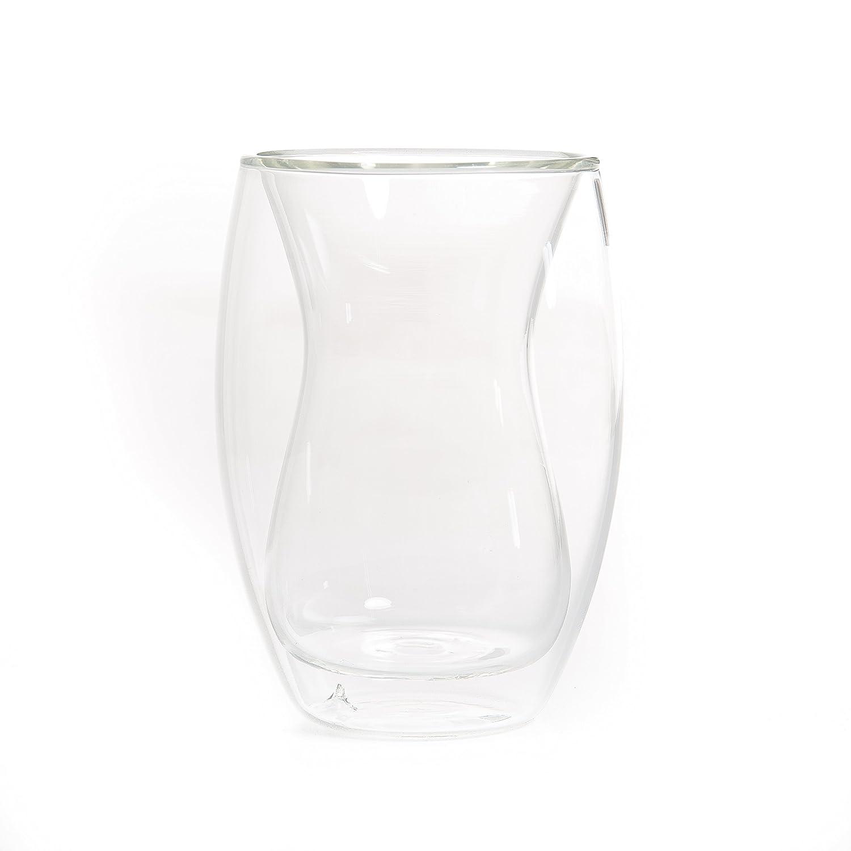 YEM 6x 180ML Vasos Térmicos (, Té de Cristal Set, Café de Vasos, Tazas de Té, Vasos de Doble Pared de Tazas, Térmicos, Chai de Ci Té de Cristal Set Café de Vasos Tazas de Té Térmicos