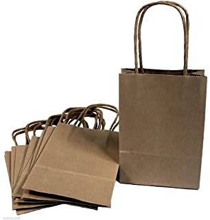 Amazon.com: Creative Hobbies® Small Kraft Paper Gift Handle Bags ...