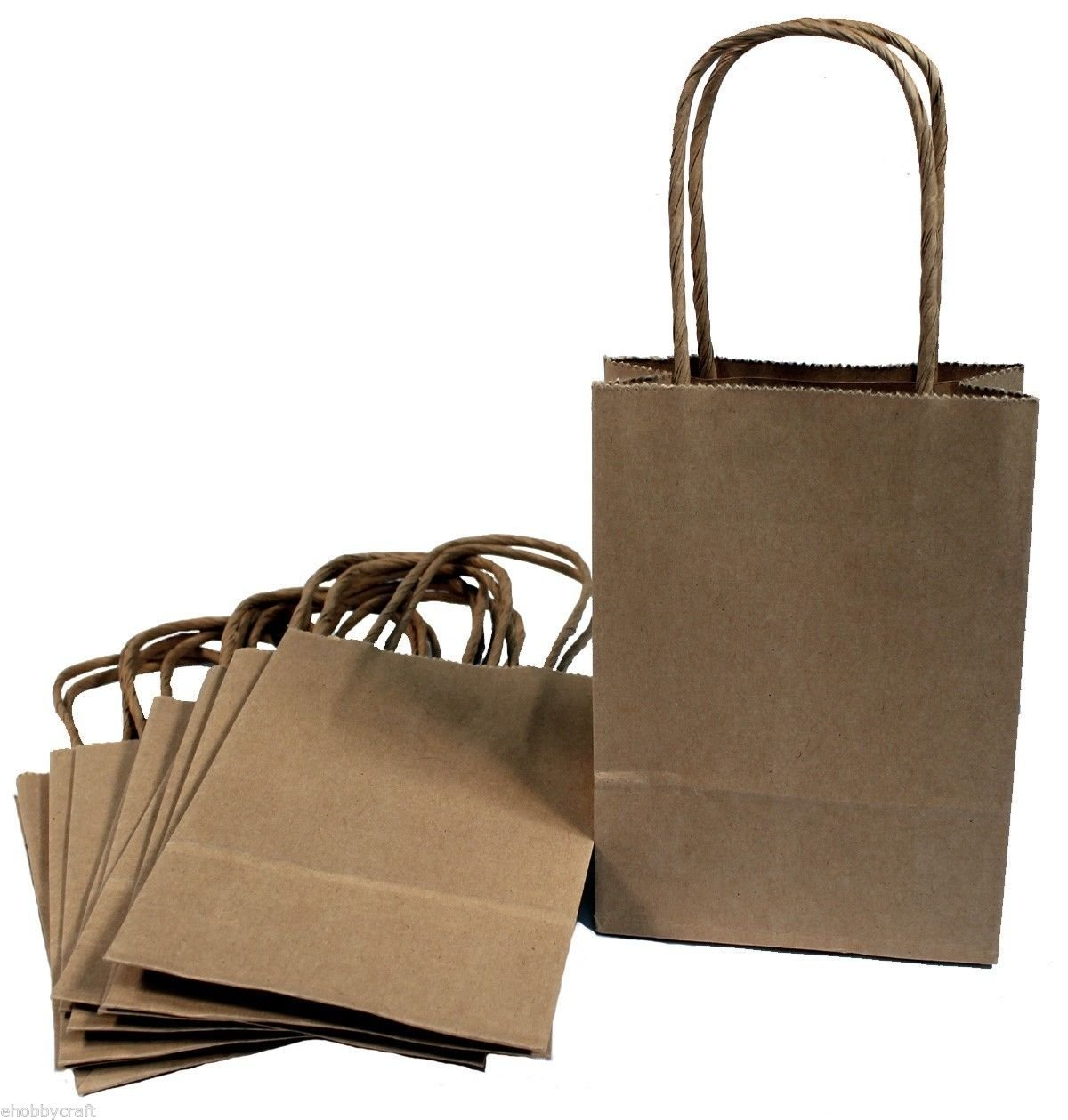 Small craft gift bags party favor goody for Brown paper craft bags