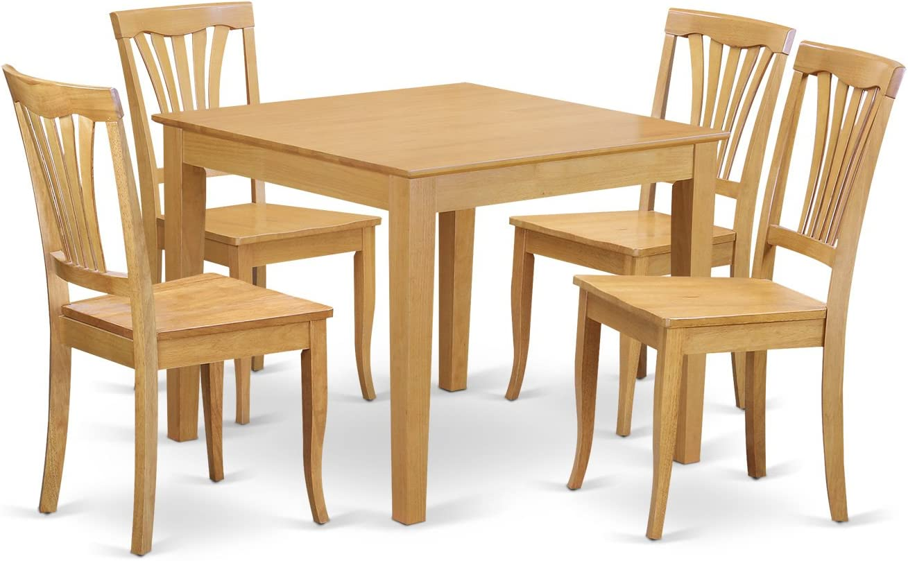 5 Pc small Kitchen Table and Chairs set -square Dinette Table and 5 Kitchen  Chairs