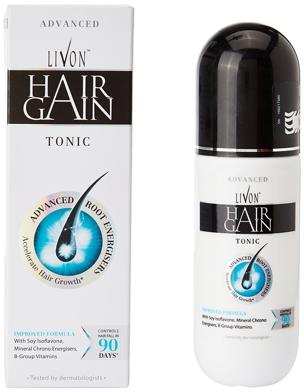 LIVON HAIR GAIN TONIC, PACK OF TWO BOTTLES
