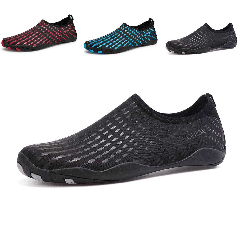 LeKuni Women's Mesh Slip on Water Shoes (12 Women/9.5 Men,42_61_Black)