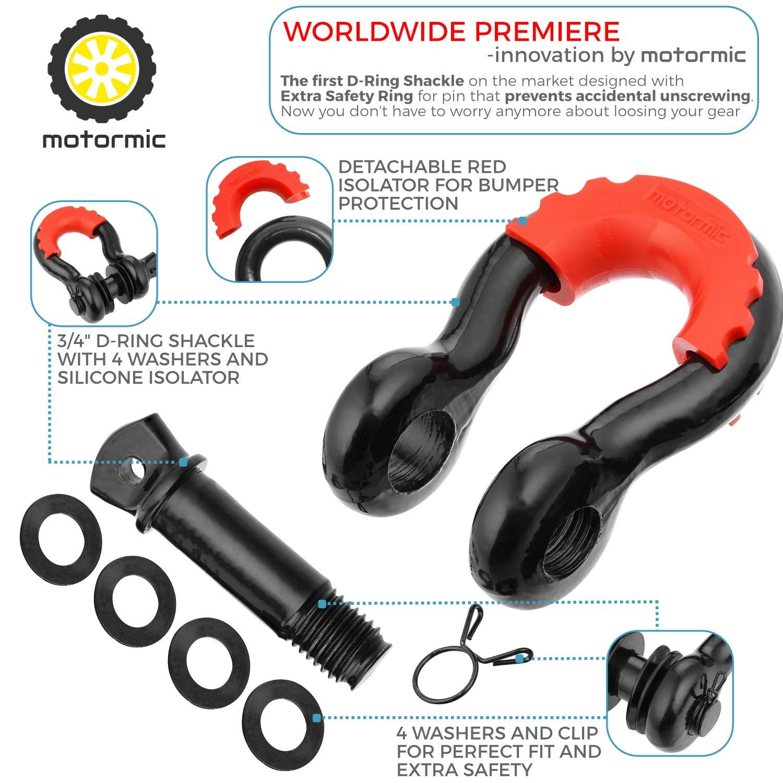 Black Screw Pin Motormic D Ring Shackles