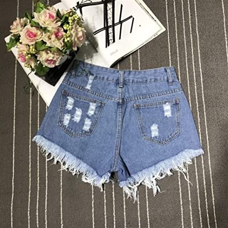 FENGLINZEKANG Pantalones Cortos de Mezclilla for Mujer ...