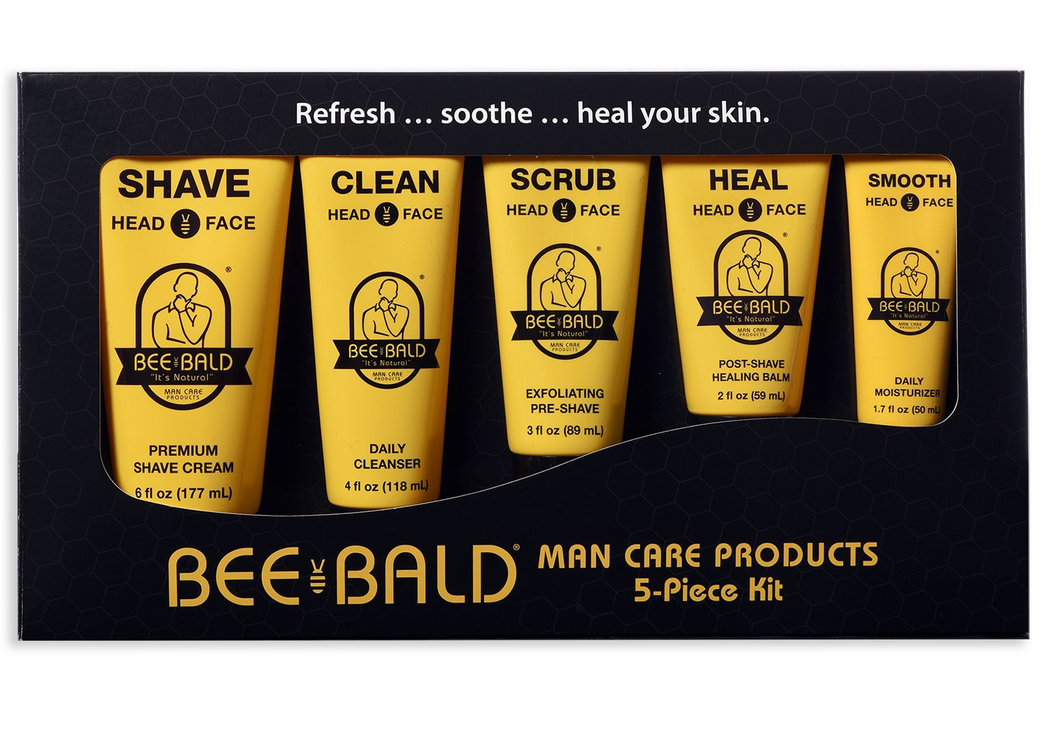 Bald head products come in a variety of forms and consistencies. Shaving gels help you obtain a smooth finish on your head. Other types of shaving products like shaving cream and shaving powder, can be mixed with water for application.