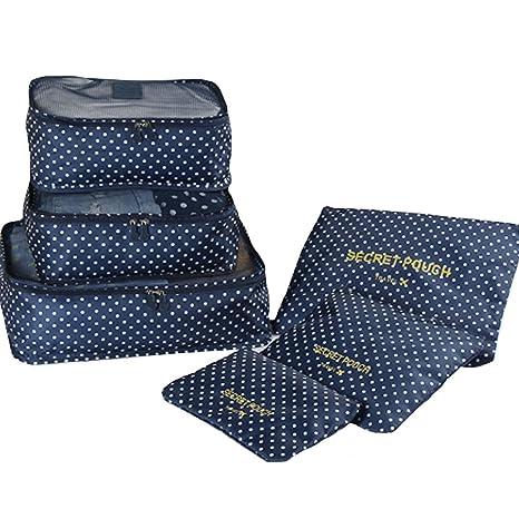 La Haute, set de maletas y estuches organizadores para viaje, 6 unidades. Incluye