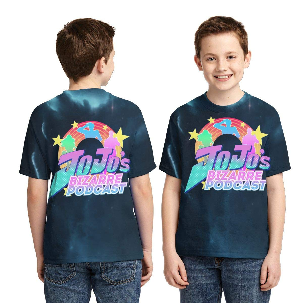 Zengqinglove Boys,Girls,Youth JoJos Bizarre Adventure Tee