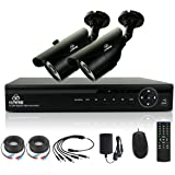 [TRUE 960p HD] SMART CCTV System, KARE 1080N DVR Recorder with 2x Super HD 1.3MP Outdoor Cameras (P2P Technology, 1280x960 Bullet Cam Even Better Than 720P, Rapid USB Storage Backup, Vandal and Water-Proof Body, Night Vision, Mobile App: Xmeye)