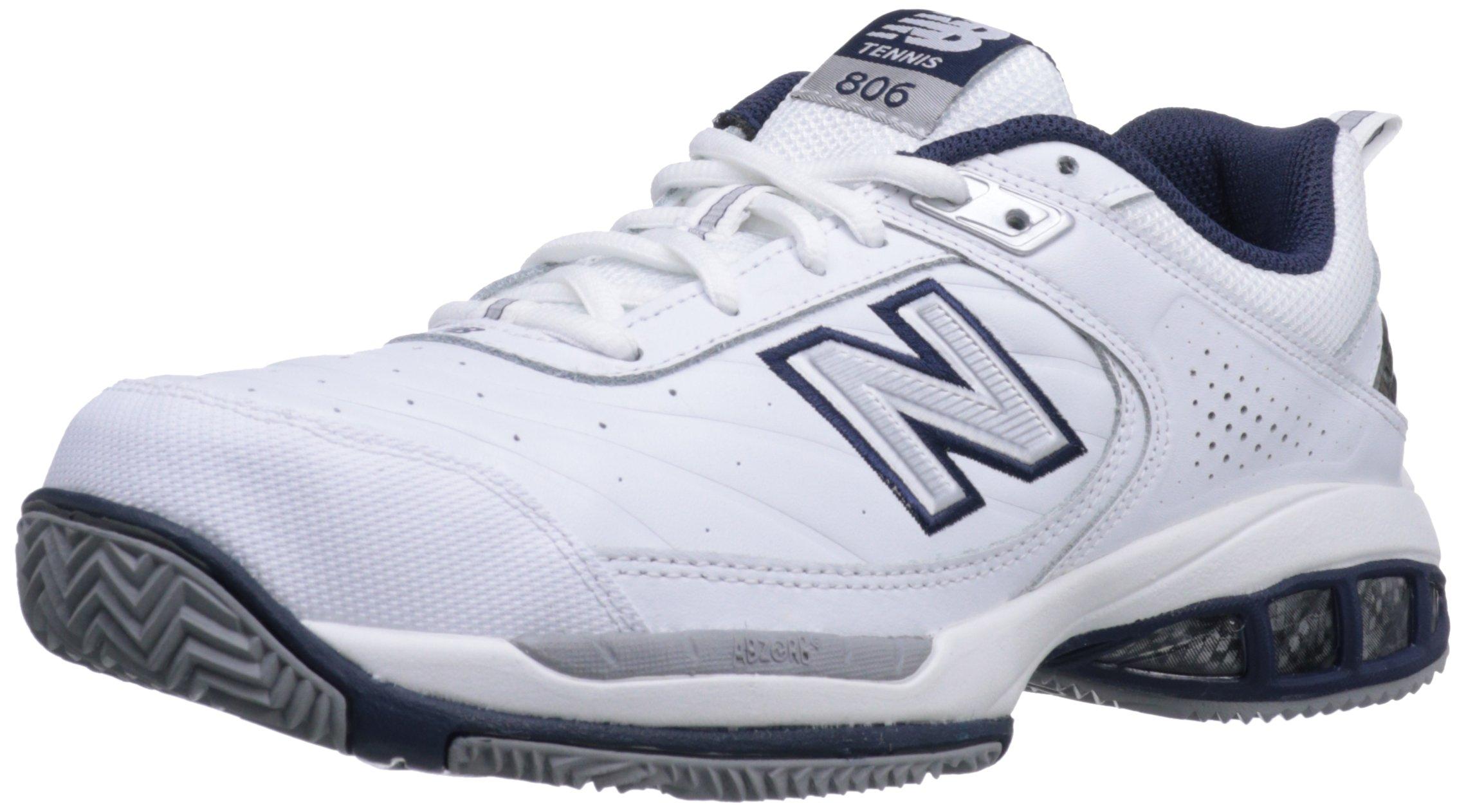 New Balance Men's mc806 Tennis Shoe, White, 14 4E US by New Balance