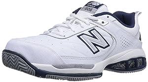 New Balance Men's mc806 Tennis Shoe, White, 10.5 D US