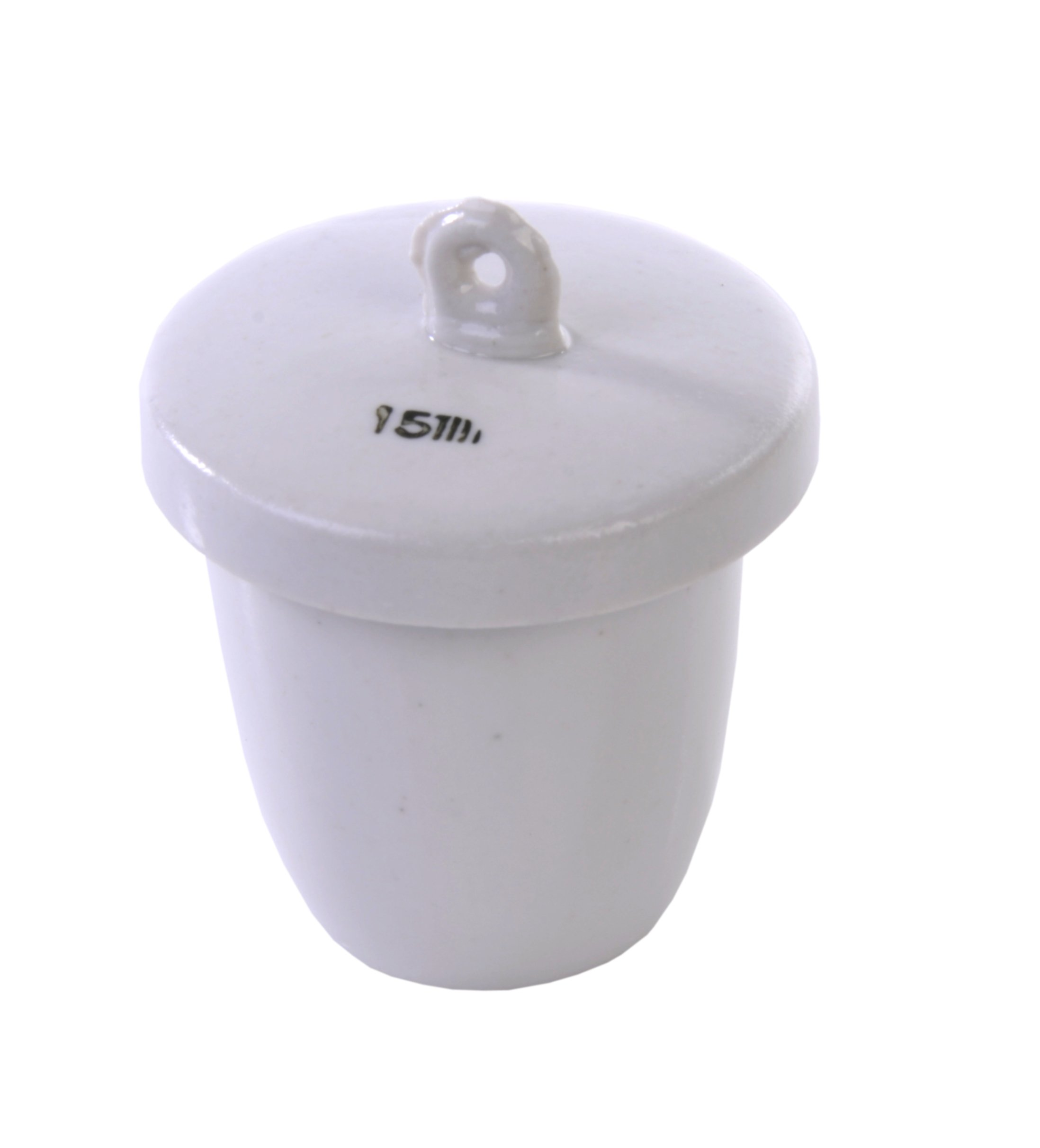 American Educational High Form Porcelain Crucible with Lid, 15mL Capacity (Bundle of 10)