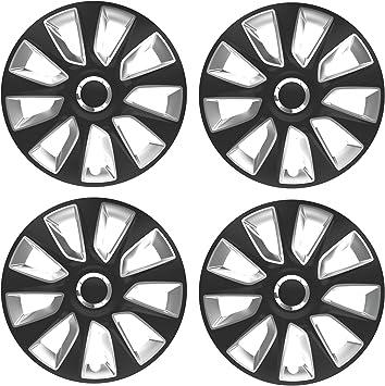 UKB4C 4 x Wheel Trims Strat Hub Caps 15 Covers fits Renault Clio Megane Twingo