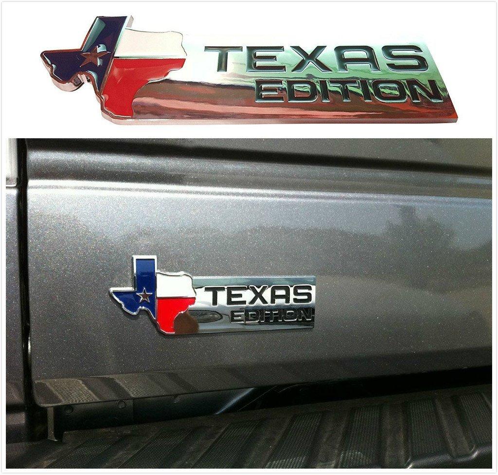 Kimoo F-TX XL Texas Edition Fender Side TailgateTrunk Badge Emblem for Ford 150 250 350