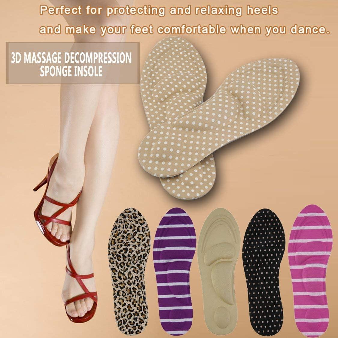 Couleur De Peau Vige Femmes Pieds Soins Massage Talons Hauts /Éponge 3D Semelles De Chaussures Coussins Coussins DIY Coupe Soutien Arche Sport Soutien Orthotique