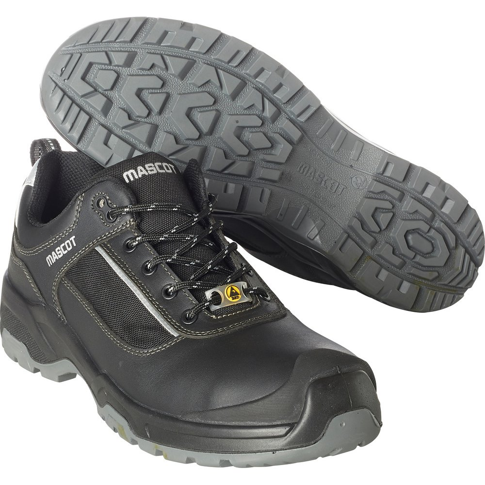 Mascot F0126-774-09880-1041 SAFETY ShoeS1P Size W10/7.5 41, Black/Silver