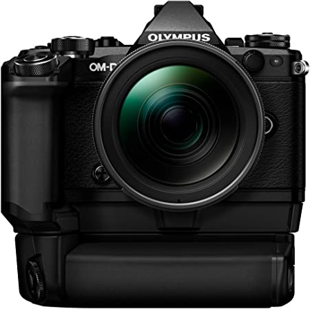 Olympus OM-D E-M5 Mark II Kit, Micro Four Thirds System Camera (16.1 MP, 5-Axis Image Stabilisation, Electronic Viewfinder) + Mo 12-40mm PRO Universal Zoom + Power Battery Holder & Battery, Black