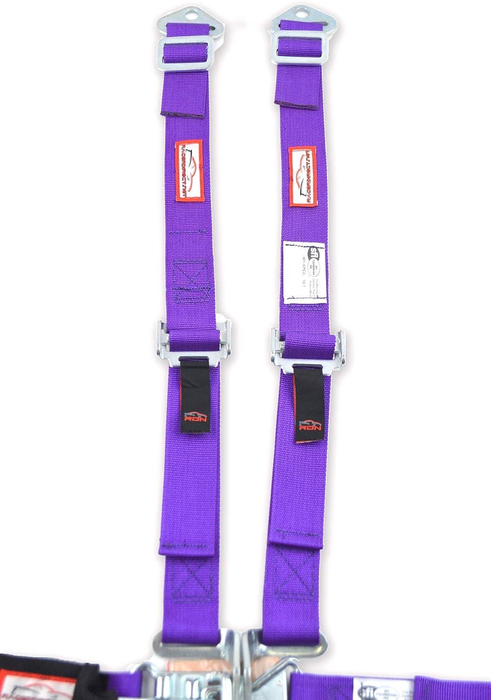 Racerdirect.net JR Racing Harness SFI 16.1 5 Point Latch /& Link Floor Mount Belt Purple