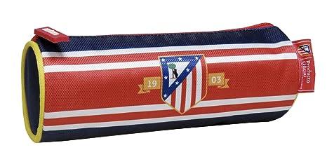 Atletico de Madrid- 0 Estuche portatodo cilíndrico Bordado (CYP Imports PT-225-ATL): Amazon.es: Juguetes y juegos
