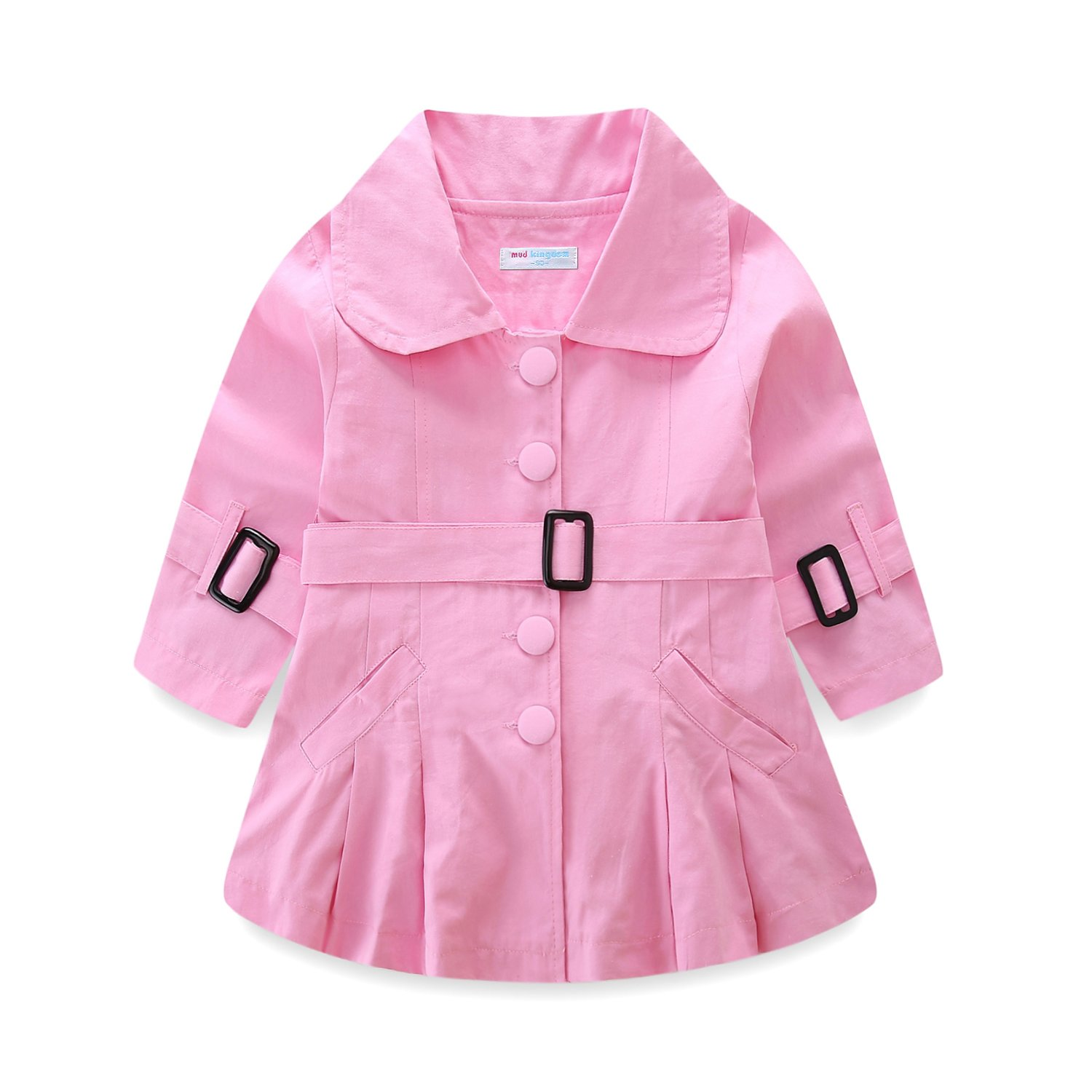 Mud Kingdom Girls Trench Coat Plain Jacket for Spring Fall ZS0096