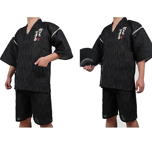 Fancy Pumpkin Traje de Estilo japonés Jinbei para Hombre Kimono Pijama XL-06: Amazon.es: Ropa y accesorios
