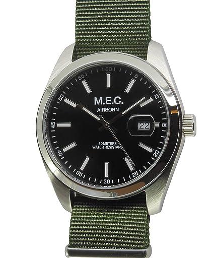 Reloj Vintage mec Hombre Cuarzo Acero Militar Deportivo Buceo Idea regalo: Amazon.es: Relojes