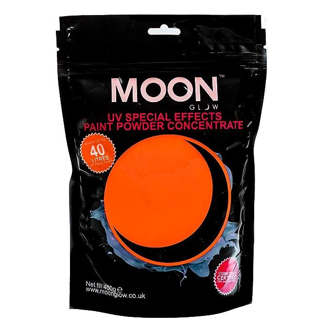 Pintura neón en polvo UV fluorescente de color naranja flúor