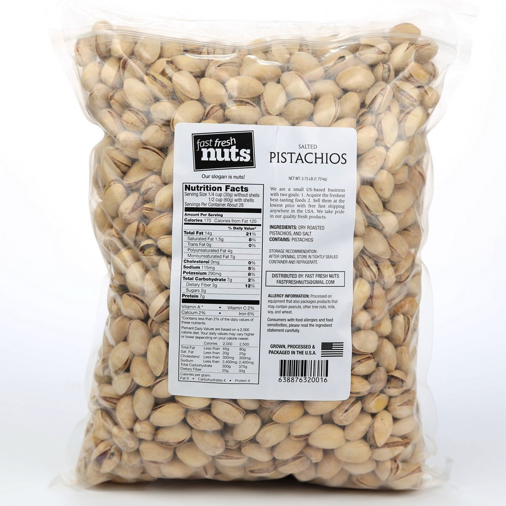 Fast Fresh Nuts û Salted Pistachios in a Handy Bulk-Bag - 3.75 lbs